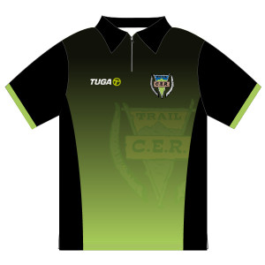 Polo personalizado MC Trail CER verde negro Tuga Teams